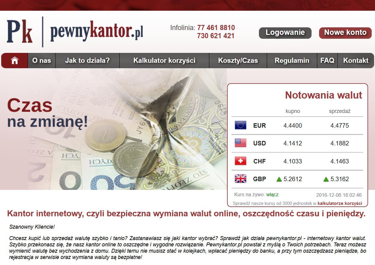 Informacje i opinie o kantorze wymianie walut - Pewny Kantor