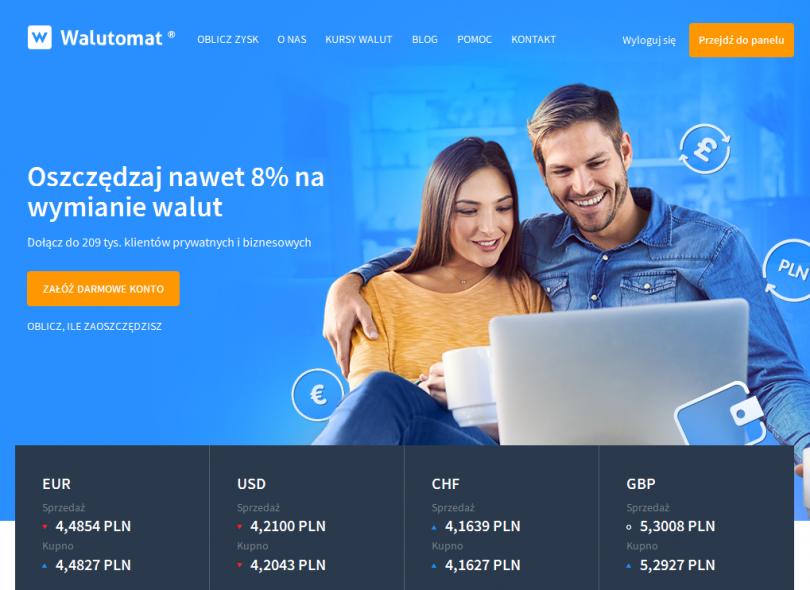 Kantor walut online Walutomat.pl