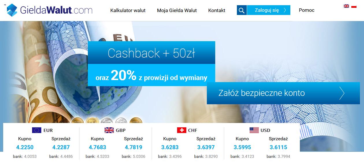 Informacje i opinie o kantorze wymianie walut - Giełda Walut