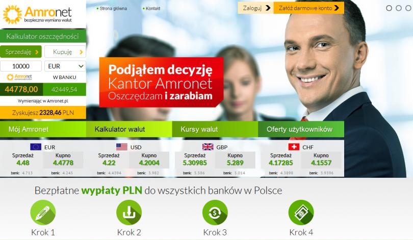 Informacje o e-kantorze Amronet.pl - opinie, informacje, kontakt