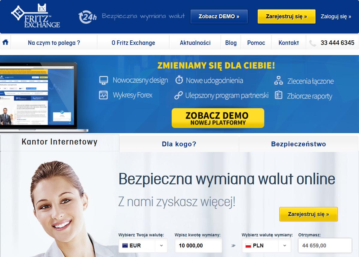 Informacje i opinie o kantorze wymianie walut - FritzExchange
