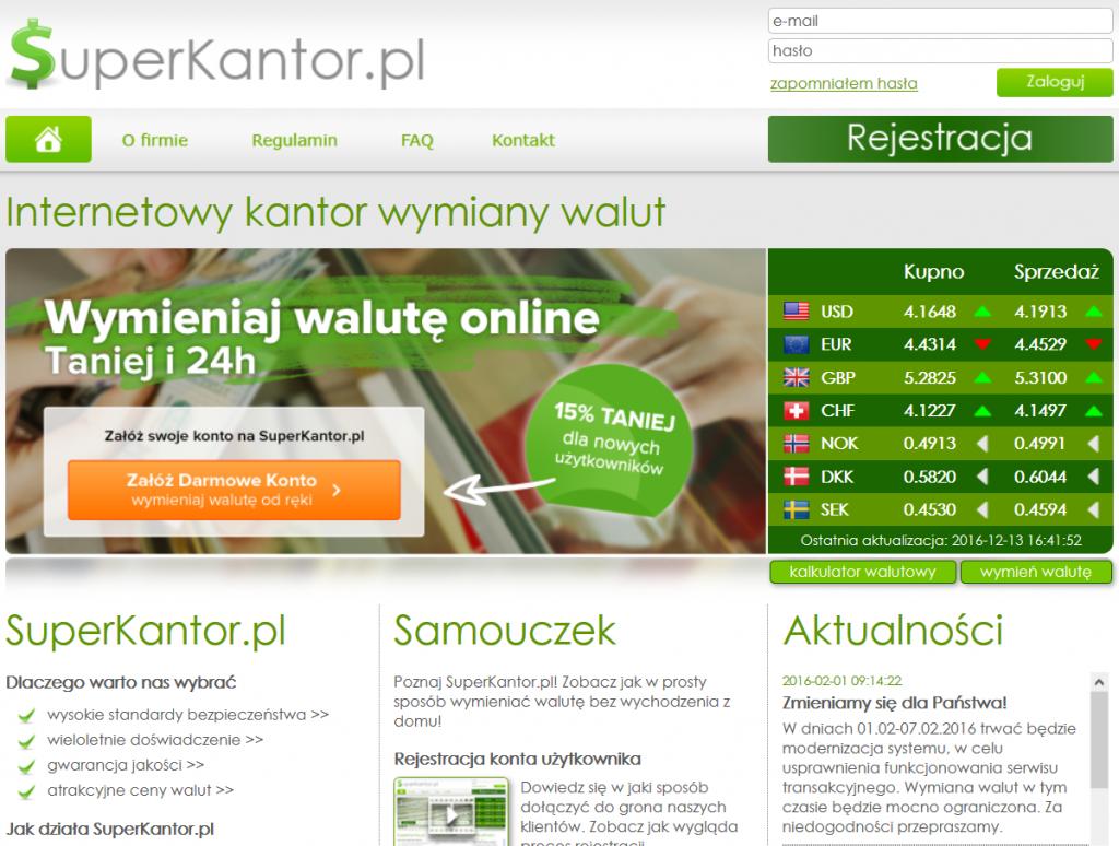 Informacje i opinie o kantorze wymianie walut - Super Kantor