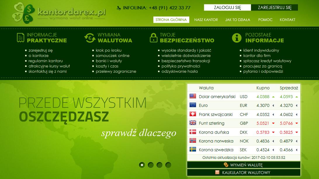 Informacje i opinie o kantorze wymianie walut - Kantor Darex
