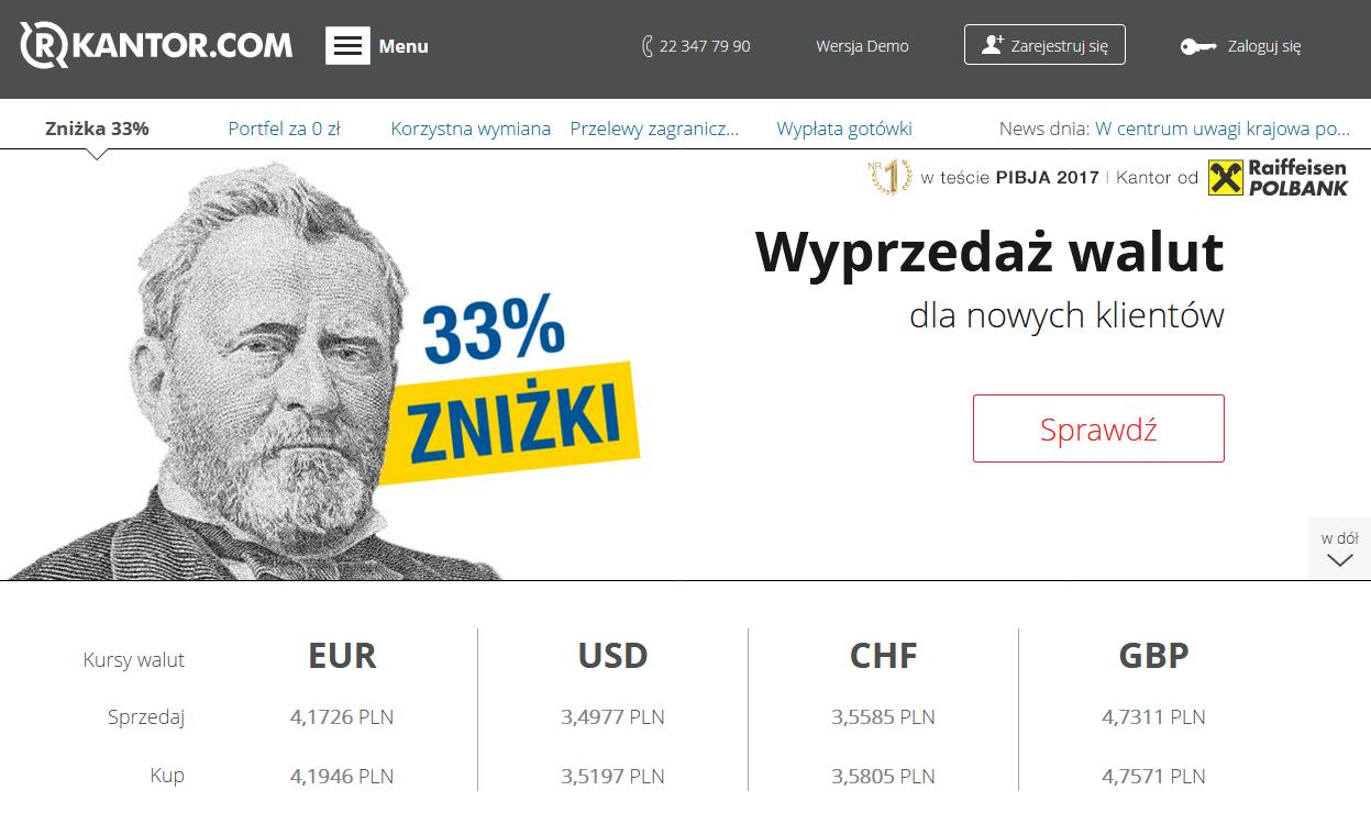 Informacje i opinie o kantorze wymianie walut R Kantor